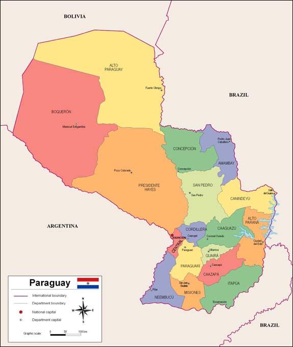 Paraguay map